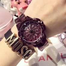 Mashali Brand Women'S Watch Purple Ladies Watch Fashion Spin 360° Rotate Watch