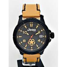 Jeep Men Date Leather Watch Jpc31403