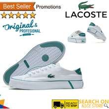 Lacoste Men'S And Women'S Shoes Comfortable Lazy Loafers Canvas Casual Shoes Kasut Kasual Kanvas Loafers Malas Yang Selesa