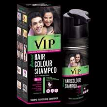 Vcare Vip Natural Herbal Hair Colour Shampoo 180Ml (Black And Brown)