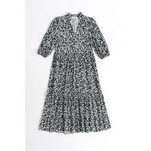 Primark Original Black Print Crepe Shirt Maxi Dress (Retail: Myr86)