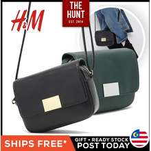 H&M 🔥Ready Stock🔥 Metal Flap Sling Bag Women Handbag Sling Bag Crossbody Messenger Shoulder Bags Gifts Hadiah Beg