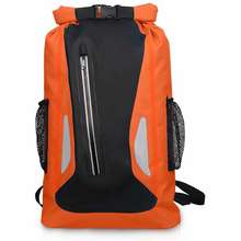 Outdoor Waterproof Dry Bag 25L Reflective Dry Sack Roll Top Dry Sack Lightweight Camping Gear Bag Mountaineering Bag Sport Backpack Women Men For Camping Hiking Cycling Sport Bag (Orange)