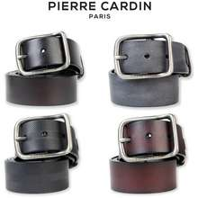 Pierre Cardin Men'S Buckle Bar Clip Leather Belt Pmad8Mbc1G547-As
