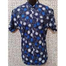 Hurley Floral Slim Fit Baju Batik Jawa (size L) (Blue, Int:L)