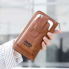 Jeep Buluo Men'S Leather Fashion Wallet / Clutch With Handphone Pocket A762