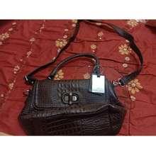 Aigner Original Pre-Loved Crocodile Embossed Leather Handbag Raya