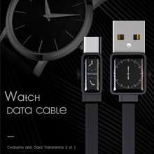 Remax Rc-113 Watch Design Data Transferring And Charge Cable For Ios Typec Micro Type-C