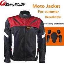 Riding Tribe Motorcycle Mens Reflective Jacket Summer Breathable Coat For Moto Rider Motorbike Clothing Body Guards Armor Jacket