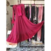 Abaya Elegan [Ready Stock] Abaya Princess Cut Lawa Warna Merah. Abaya Saudi. Jubah Arab. (Red, 52/S)