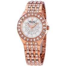 Bulova Phantom Rose Gold tone Baguette Swarovski Crystal Ladies Watch 98L268