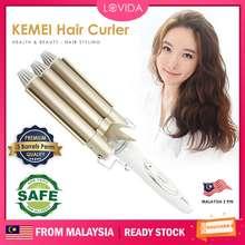 Kemei Lovida 3 Barrels Ceramic Hair Iron [Malaysia Plug] Perm Waver Curler Iron Roller Hair Curler Pelurus Rambut卷发器电卷棒