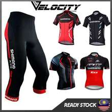 Shimano Cycling Jersey Set Jersey Top And 3/4 Pant With Gel Pad