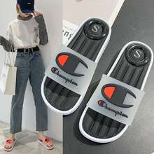 Champion 2020 New Summer Unisex Anti-Slip Transparent Word Sandals And Slippers