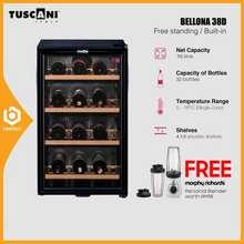 Tuscani Bellona 38D Wine Chiller Cellar Cooler Cabinet 40 Bottles Single Zone Bello Vino