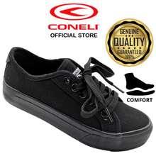 Coneli Shoes Canvas Star Kasut Black Low Cut Murah / Kasut Low Cut Canvas - Scs0658