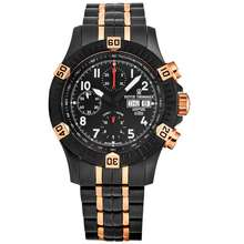 Revue Thommen Airspeed XLarge Pioneer Chronograph Automatic Black Dial Mens Watch 16071.6184