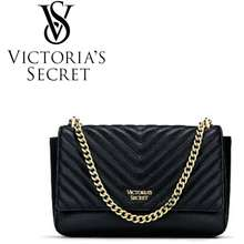 Victoria's Secret Ready Stock 🇲🇾 Victoria'S Secret Pebbled V-Quilted Crossbody Chain Bag