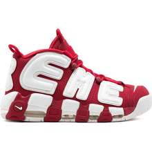 Supreme X Nike Air More Uptempo Sneakers Red