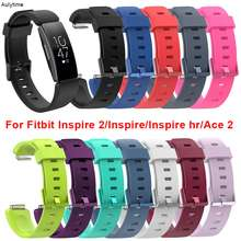 Soft TPU Replacement Watch Strap for Fitbit Inspire 2/ Fitbit Inspire HR/ Fitbit Inspire/ Fitbit Ace 2 Wrist Band Fitness Tracker for Women Men