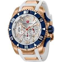 Charles Jourdan Men Watch Jam Tangan Lelaki Cj1026-1515C White Silicone Watch