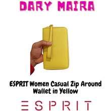 Esprit Women Casual Zip Around Wallet In Yellow