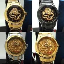 Ristos Original Dragon Series Watch Watches Jam Naga Jam Tangan Lelaki Jarum Emas Perempuan Unisex Wanita Gold Men Women