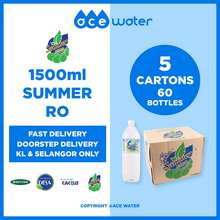 Summer [Fast Delivery] 1500Ml (1.5L) Drinking Water - 5 Cartons - 60 Bottles ✅ 𝗗𝗢𝗢𝗥𝗦𝗧𝗘𝗣 𝗗𝗘𝗟𝗜𝗩𝗘𝗥𝗬