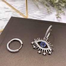 apm monaco Sterling Silver Evil Eye Fashion Design Womens Earrings