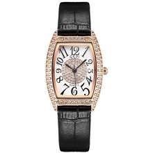 GEDI New Style Wrist Quartz Watch Fashion Leather Strap Casual Watches For Women (red)
