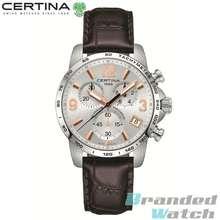 Certina [Official Warranty] C034.417.16.037.01 Mens DS Podium Precidrive Chronograph Leather Strap Watch C0344171603701 (watch for men / jam tangan lelaki / watch for men / watch / men watch)