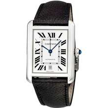 Cartier Tank Solo XL Automatic Silver Dial Mens Watch WSTA0029
