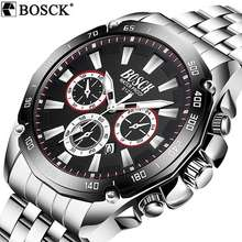 BOSCK 31232 Watch Men'S Business Casual Sports Steel/Silicone