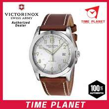 Swiss Army (Official Warranty) 241566 Infantry Automatic Silver Dial Brown Leather Men'S Watch