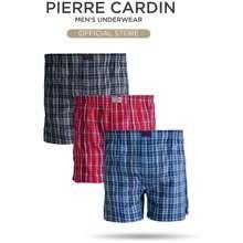 Pierre Cardin Underwear Woven Checks Boxer - Assorted Colour (3 Pcs) Pc554-3X