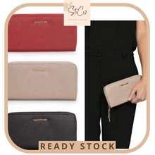 Mango 🔥Ready Stock🇲🇾 Saffiano Zip Pu Leather Long Wallet Purse