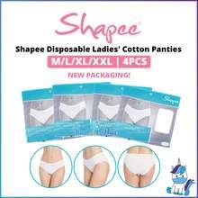 Shapee 【Raya Sales】 Disposable & Reusable Ladies Cotton Panties (4Pcs) M, L, Xl, Xxl