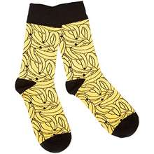 Topman Men's Bananas Novelty Stretch Crew Socks, Yellow