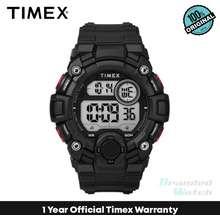 Timex [100% Original] Tw5M27600 Men'S Digital Quartz Black Red Silicone Strap Watch