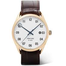 TOM FORD Tom Ford Timepieces - 002 Automatic 40mm 18-Karat Gold and Alligator Watch - Men - White