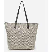 Dorothy Perkins Black And White Beach Shopper Bag