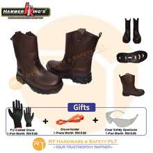 HAMMER KING S 13021 HighCut Pull-up Safety Shoes (Brown) 13021