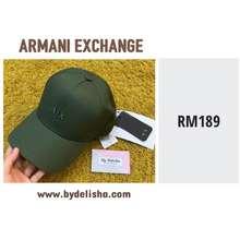 Armani Exchange Men Cap Ax Logo Green