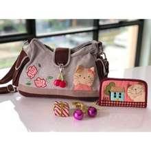 Handmade [ Value Pack ] Shoulder Bag + Card Holder