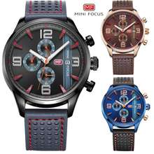 MINI FOCUS Mf0016G Men'S Chronograph Leather Watch Swth-221