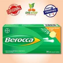 BAYER Berocca Orange Effervescent Tablets (Vitamin B Group With Vitamin C, Added Calcium, Magnesium & Zinc) 30'S