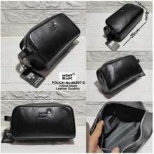 Montblanc Pouch Handbags Bag Leather Clutch