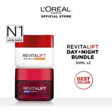 L'Oréal Revitalift Anti Aging Day & Night Cream Skincare Set (50Ml)