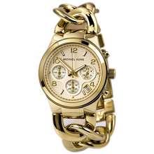 Michael Kors Women'S Runway Twist Chrono Rose Gold Bracelet Watch Mk3131
