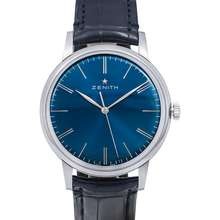 Zenith Elite 6150 Stainless Steel Automatic Blue Dial Men's Watch